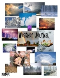 Cover sheet for weather journal