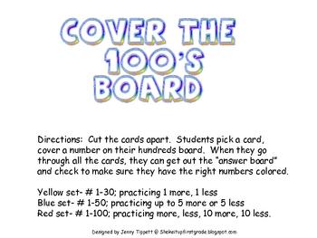 Cover the 100s board