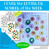 Cover the Letter or Number of the Week
