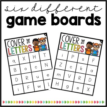 Cover the Letters {Mixed Case Bingo Game}