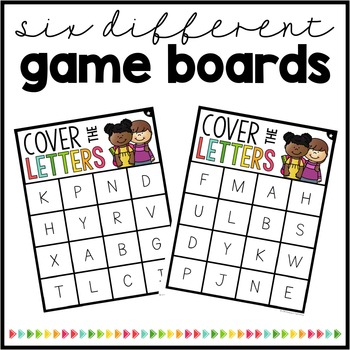 Cover the Letters {Uppercase Bingo Game}