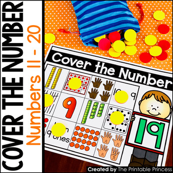 Cover the Number {Kindergarten Math: Numbers 11 - 20}