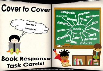 Cover to Cover ~ Book Response ~ 40 Task Cards + More (Grade 2-5)