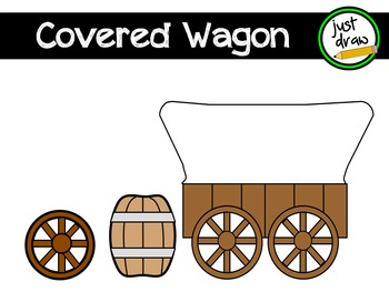 Covered Wagon Clip Art - Personal and Commercial Use