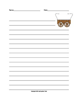 Covered Wagon Lined Writing Paper