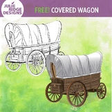 Covered Wagon Clip Art Freebie