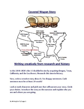 Covered Wagon Story Writing