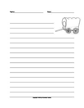 Covered Wagon Writing Paper Set