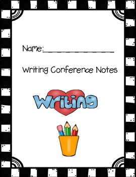 Covers for Writing Conference Notes