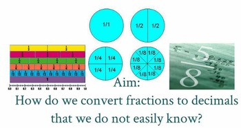 Converting Fractions to Decimals Lesson Plan (Everything I