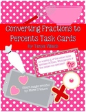 FREEBIE! Coverting Fractions to Decimals/Percents Task Cards