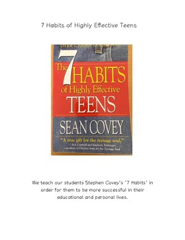 Covey's 7 Habits in 'real life' and 7 Habits Daily Tracker