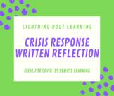 Covid-19 (Coronavirus Pandemic) Crisis Response: Written Reflection