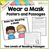 How to Wear a Mask Posters and Passages |  Back to School