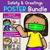 Covid 19 Safety Posters & Social Distancing Greetings Post