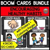 Covid 19 Safety Posters and Coloring Pages with BOOM Cards BUNDLE