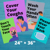 Covid-19 Safety Posters for Middle/High School (Pack of 11