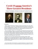 Coronavirus versus America's Three Greatest Presidents