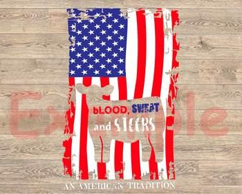 Cow American Flag show heifer Silhouette SVG cowboy 4th July Farm Milk 891S