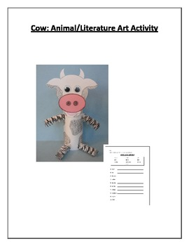 Cow: Animal/Literature Art Activity