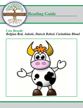 Cow Breed Research Guide:  Belgian Red, Ankole, Dutsch Belted, Carinthian Blond