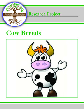 Cow Breed Research Guide Classroom Set