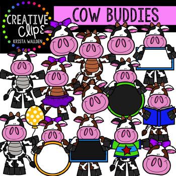 Cow Clipart Buddies {Creative Clips Clipart}
