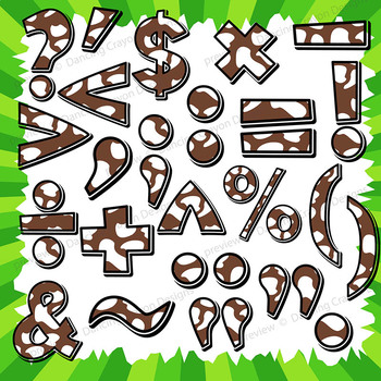 Cow Clip Art Alphabet Letters for Cover Pages and Bulletin Boards