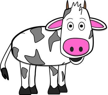 Cow Clip Art // Chris the Cow Set: 14 Different Cow Images