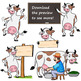 Cow Clip Art | Cow with signs
