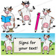 Cow Clip Art   Cow with signs