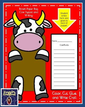 Cow Craft and Writing: Puppet (Farm Animal Research, Spring, Autumn)