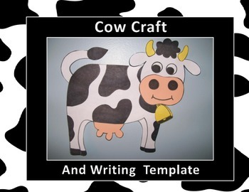 Cow Craft and Writing Template