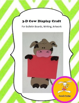 Cow Craft - for Writing, Bulletin Boards,or Art