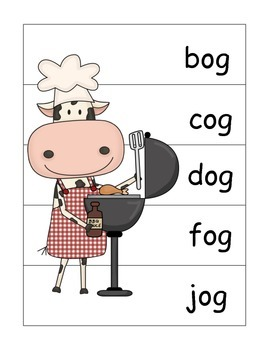 Cow Crazy Word Family Puzzles