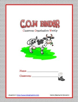 Cow {Farm} Binder Cover