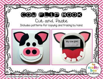 Cow Flip Book Cut and Paste