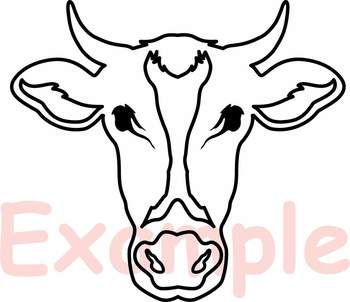 Download Cow Head Silhouette Svg Cowboy Western Farm Animal 768S SVG