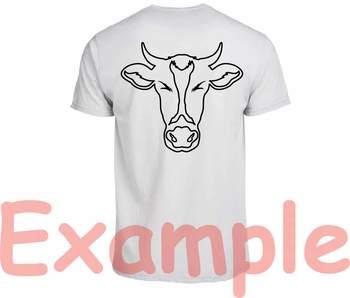 Cow Head Outline Silhouette Svg Clipart Bull Cowboy Buffalo Boho Farm 770s
