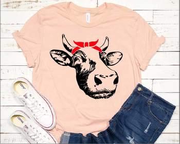 Cow Head whit Bandana SVG western Farm Milk Not today Heifer 1292S
