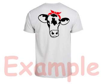 Cow Head whit Bandana Silhouette SVG clipart cowboy western Farm Milk 775S