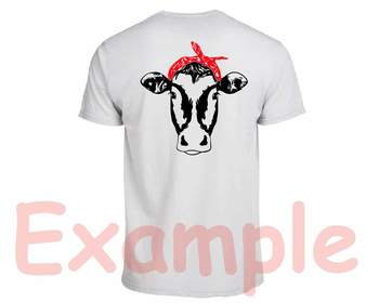Cow Head whit Bandana Silhouette SVG clipart heifer cowboy  Farm Milk 866S