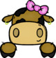 (super discount) Cow Page Toppers Clipart