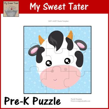 Cow Pre-K Puzzle