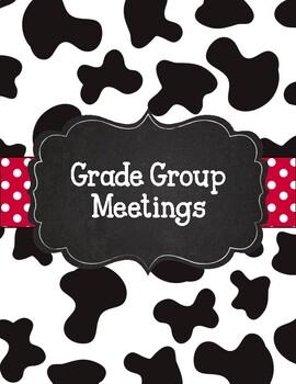 Cow Print Chalkboard and Red Polka Dot Teacher Binder