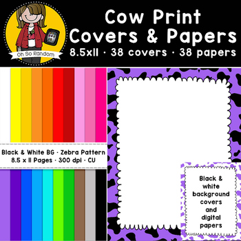 Cow Print Covers & Papers (CU)