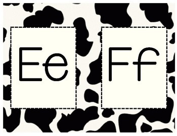 Cow Print Letters