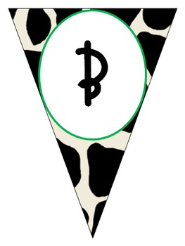 Cow Print Pennant Banner - Western