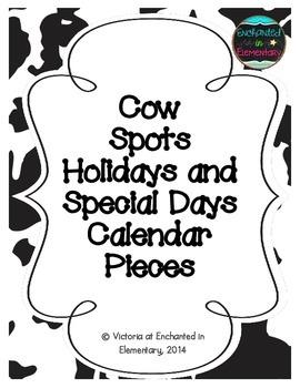 Cow Spots Holiday Calendar Pieces