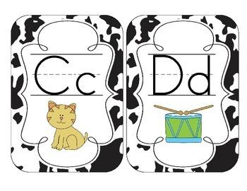Cow Spots Alphabet Cards